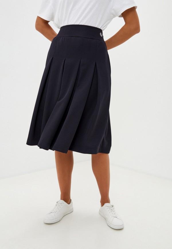 женская юбка fred perry, синяя