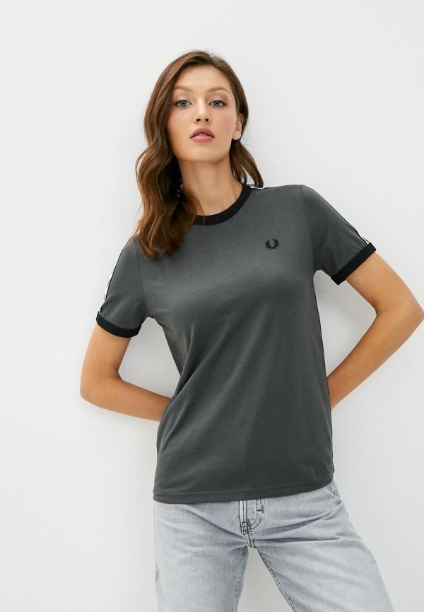 женская футболка fred perry, серая