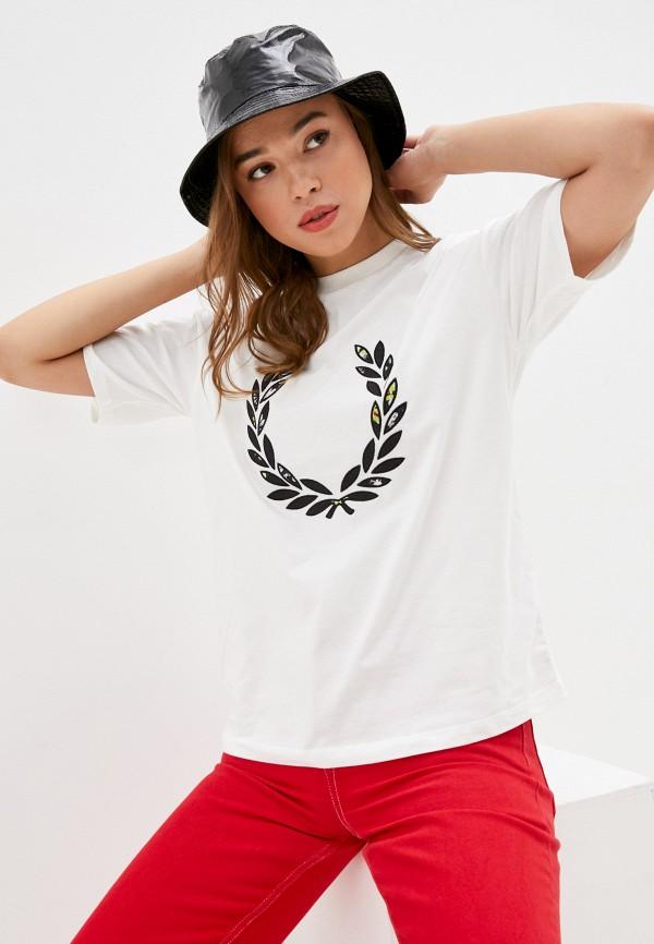 женская футболка fred perry, белая