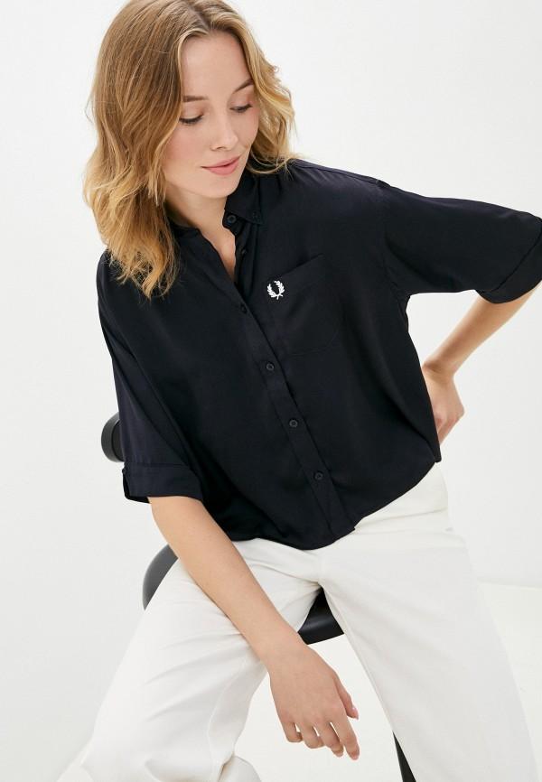 женская блузка fred perry, синяя