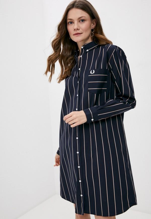 женское платье-рубашки fred perry, синее