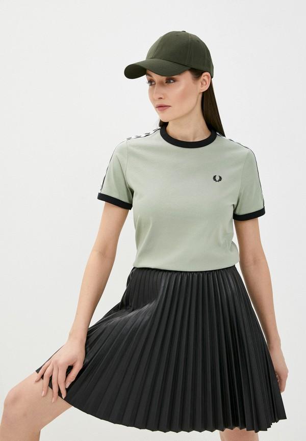 женская футболка fred perry, хаки