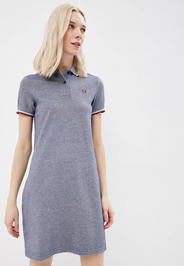 Платье Fred Perry Fred Perry FR006EWZZW71 fred perry брюки fred perry 30502549 col 0970 голубой