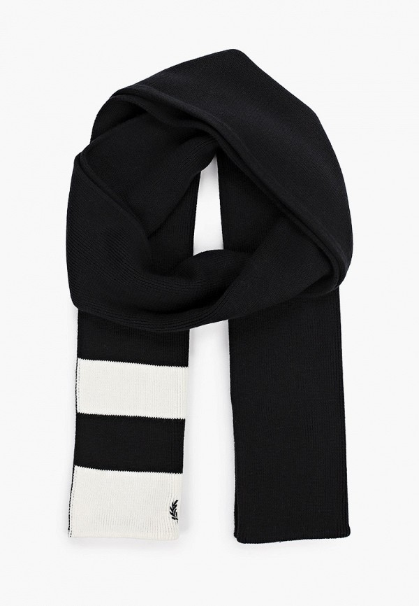 мужской шарф fred perry, черный