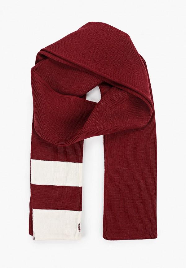 мужской шарф fred perry, бордовый