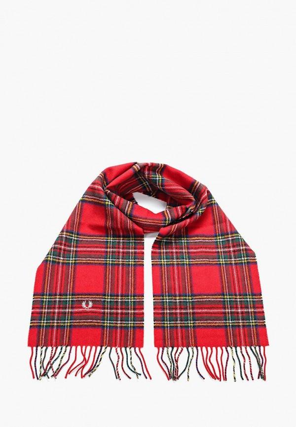 мужской шарф fred perry, красный