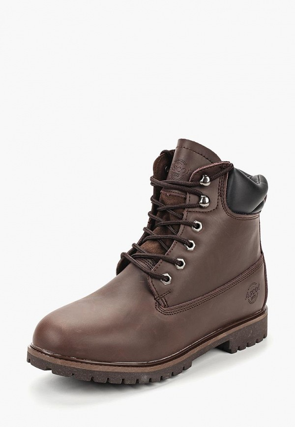 мужские ботинки front by ascot, коричневые