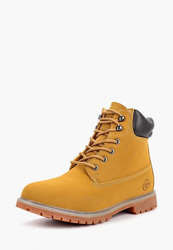 мужские ботинки front by ascot, желтые