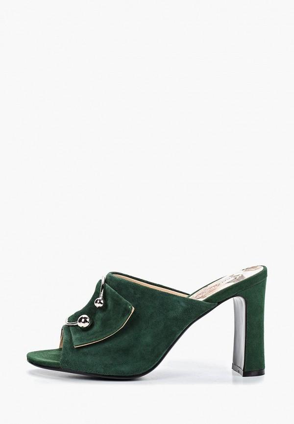 женское сабо francesco donni, зеленое