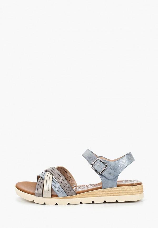 женские сандалии francesco donni, голубые