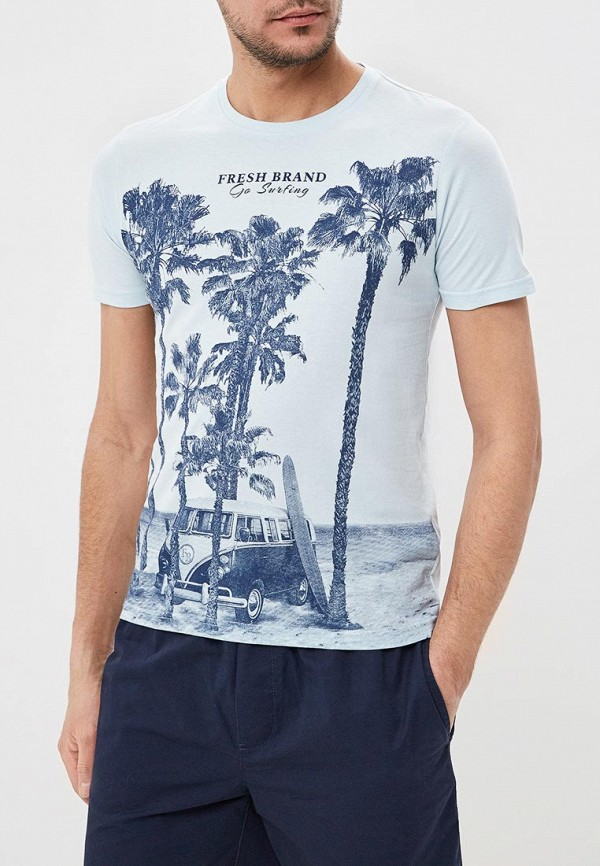 Футболка Fresh Brand Fresh Brand FR040EMENCT8 fresh style back criss cross one piece floral swimwear for women