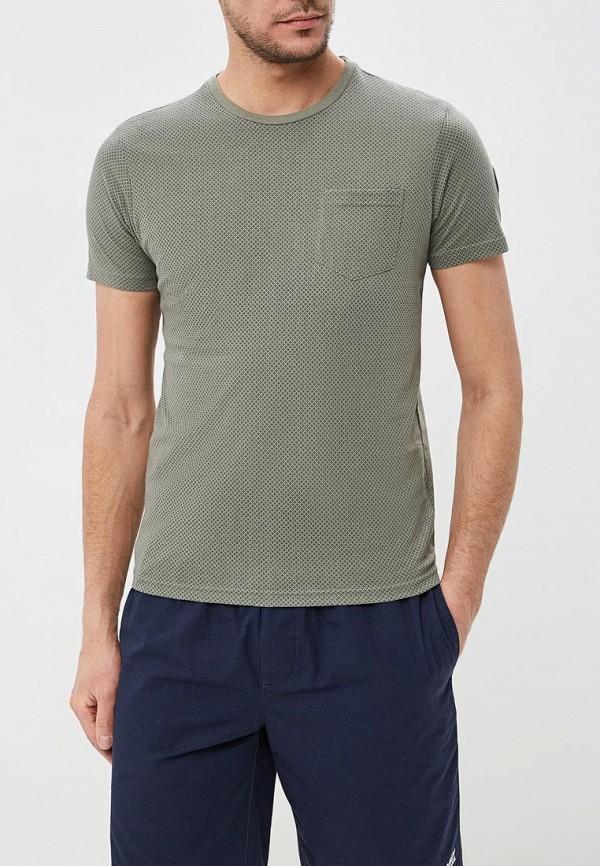 мужская футболка с коротким рукавом fresh brand, хаки