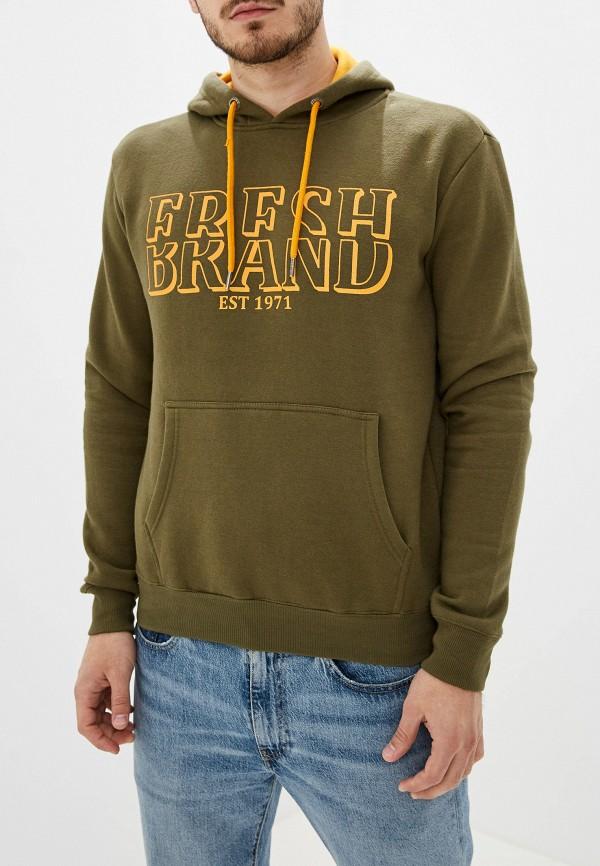 мужские худи fresh brand, хаки