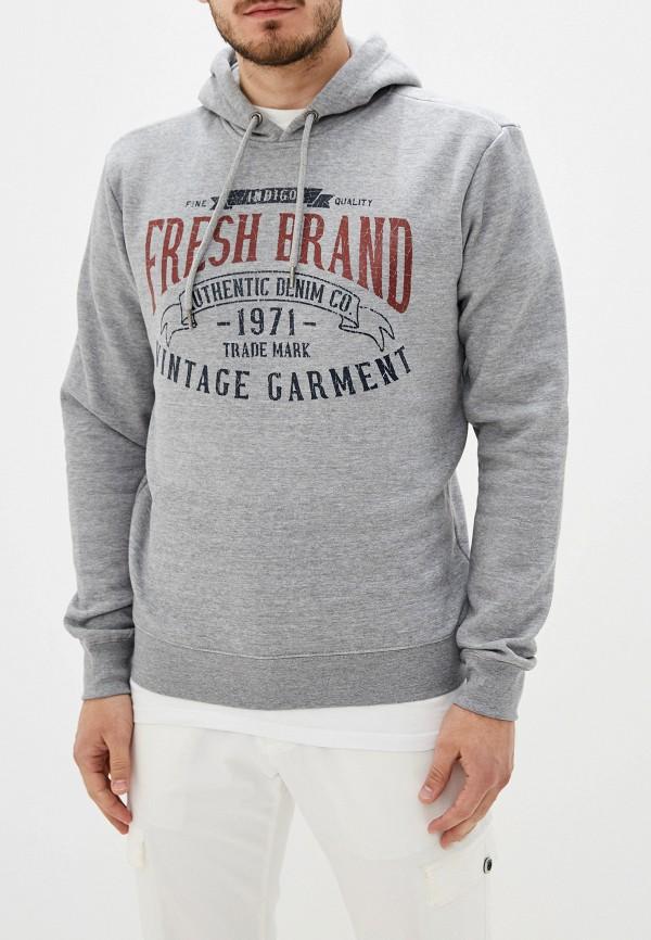 мужские худи fresh brand, серые