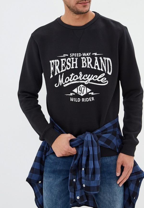мужской свитшот fresh brand, черный