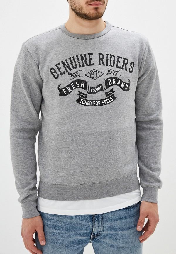 мужской свитшот fresh brand, серый