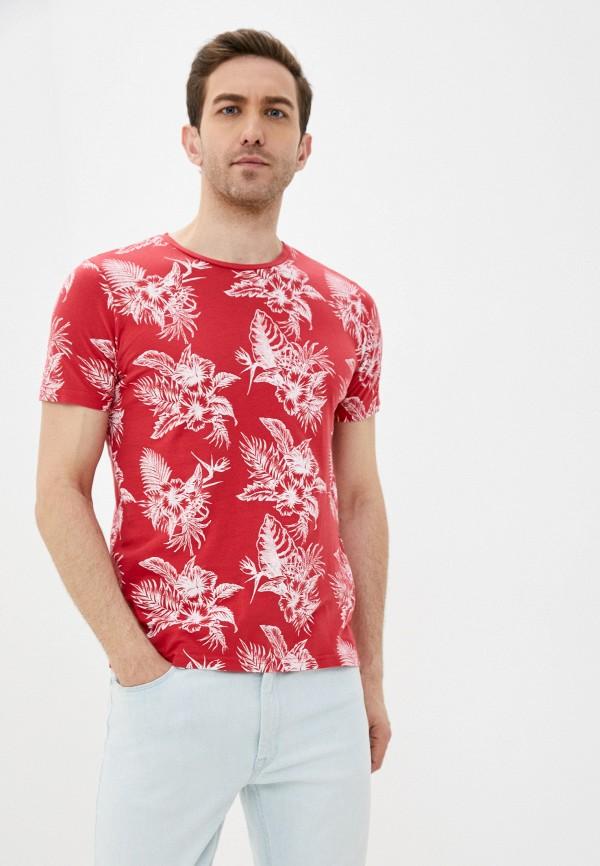 мужская футболка с коротким рукавом fresh brand, красная