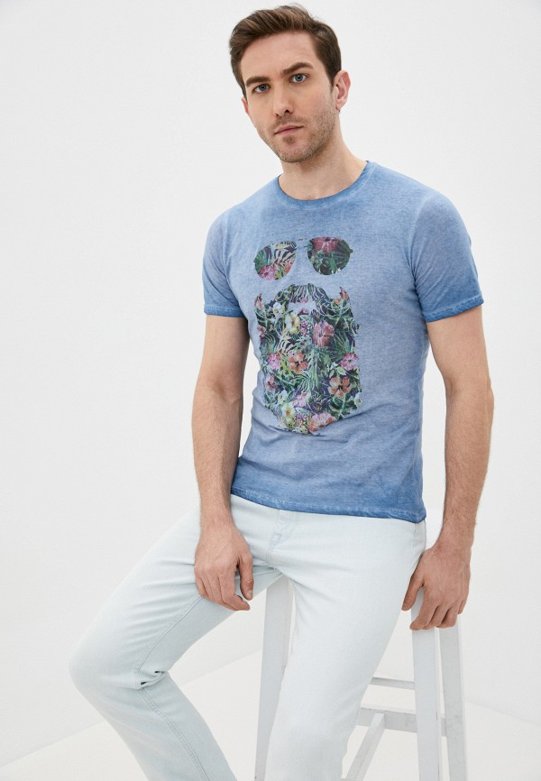 мужская футболка с коротким рукавом fresh brand, голубая