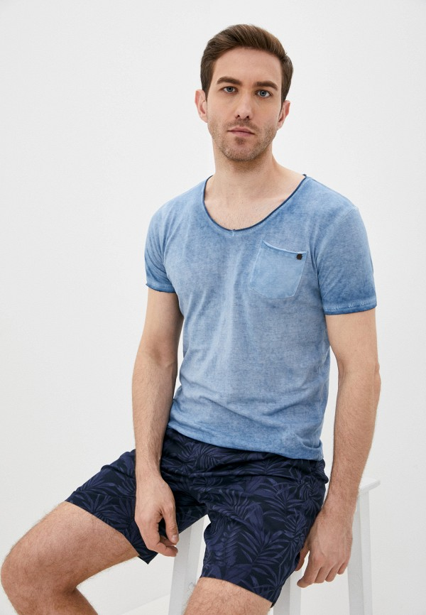 мужская футболка с коротким рукавом fresh brand, синяя