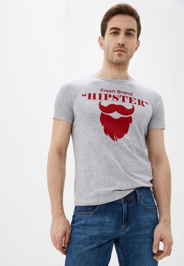 мужская футболка с коротким рукавом fresh brand, серая