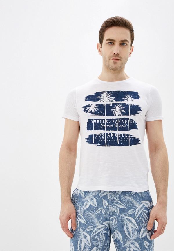 мужская футболка с коротким рукавом fresh brand, белая