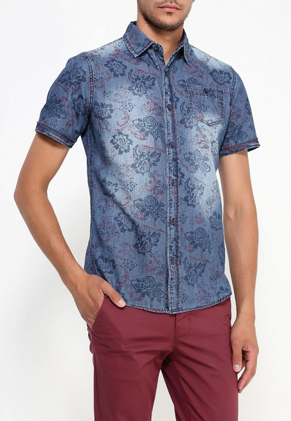 Купить Рубашка джинсовая Fresh Brand, FR040EMJQM93, синий, Осень-зима 2018/2019