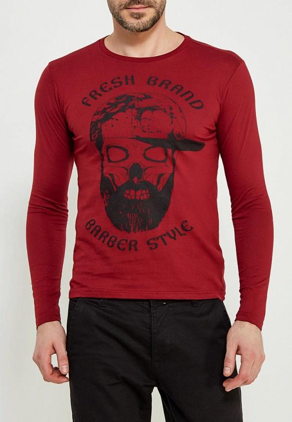 мужской лонгслив fresh brand, бордовый