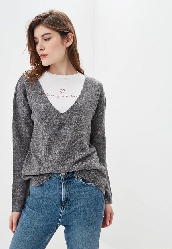 Купить Пуловер Fresh Brand, fr040ewcvmx7, серый, Осень-зима 2018/2019