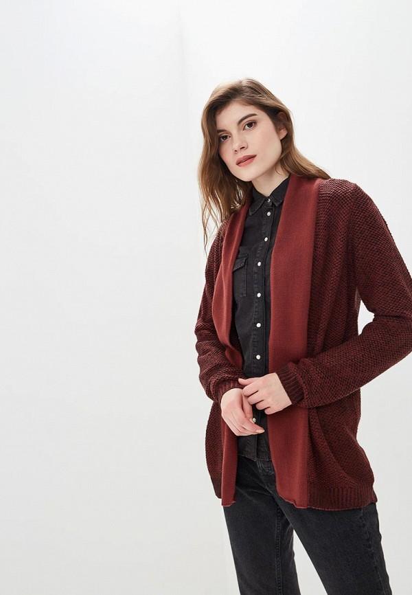 Купить Кардиган Fresh Brand, fr040ewcvmz5, бордовый, Осень-зима 2018/2019
