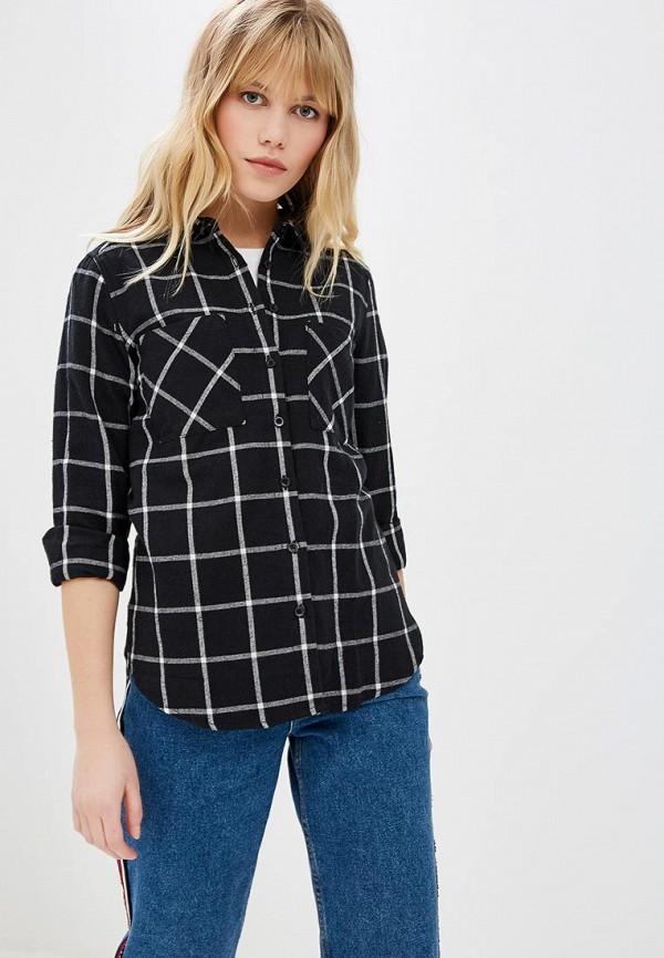 женская рубашка с длинным рукавом fresh brand, черная