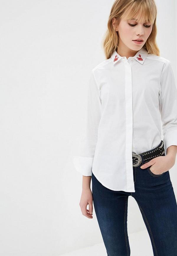 женская рубашка с длинным рукавом fresh brand, белая