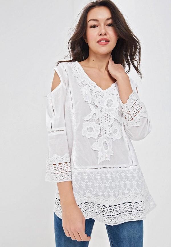 женская туника fresh cotton, белая