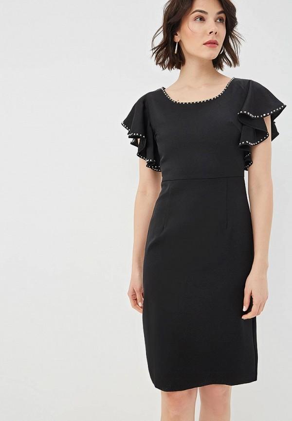 женское платье-футляр fresh cotton, черное