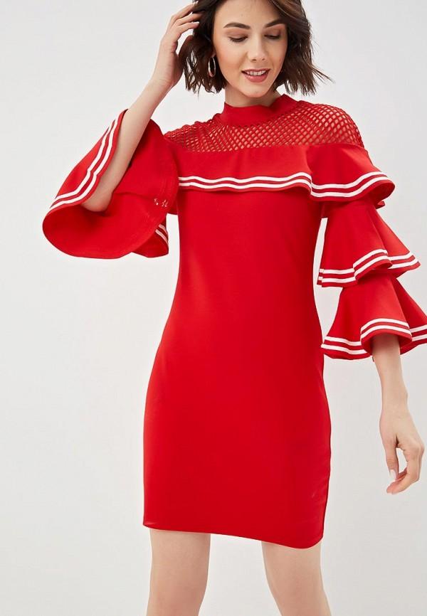 женское повседневные платье fresh cotton, красное