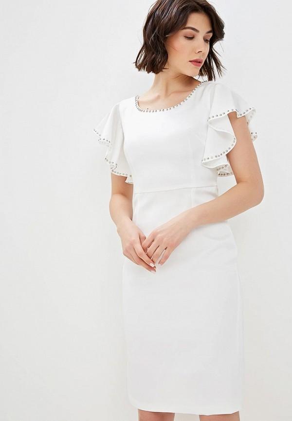женское платье-футляр fresh cotton, белое