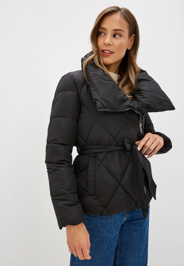 Фото - Куртку утепленная Fresh Cotton черного цвета