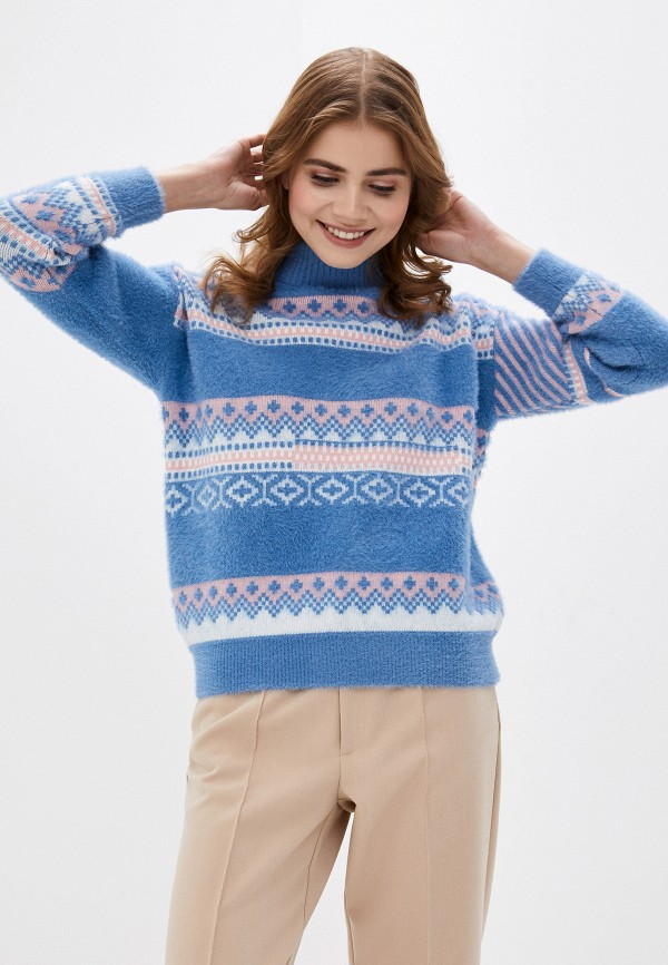 женский свитер fresh cotton, синий