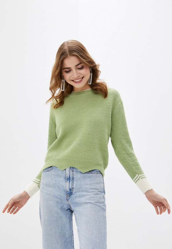 женский джемпер fresh cotton, зеленый