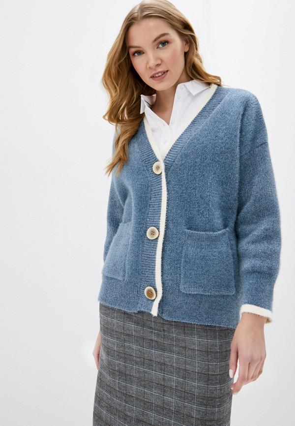 женский кардиган fresh cotton, синий