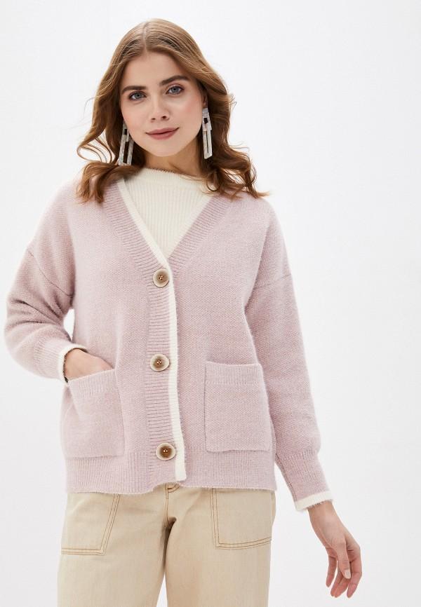 женский кардиган fresh cotton, розовый