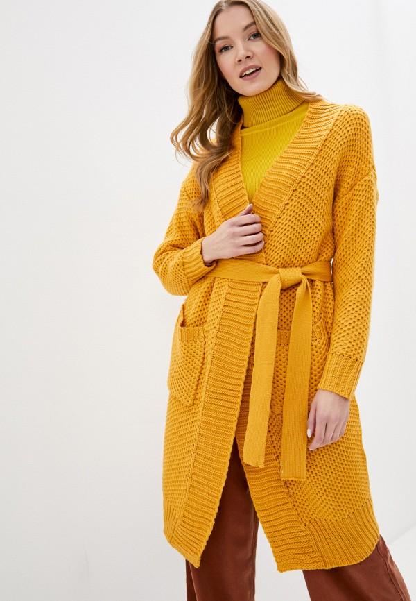 женский кардиган fresh cotton, желтый