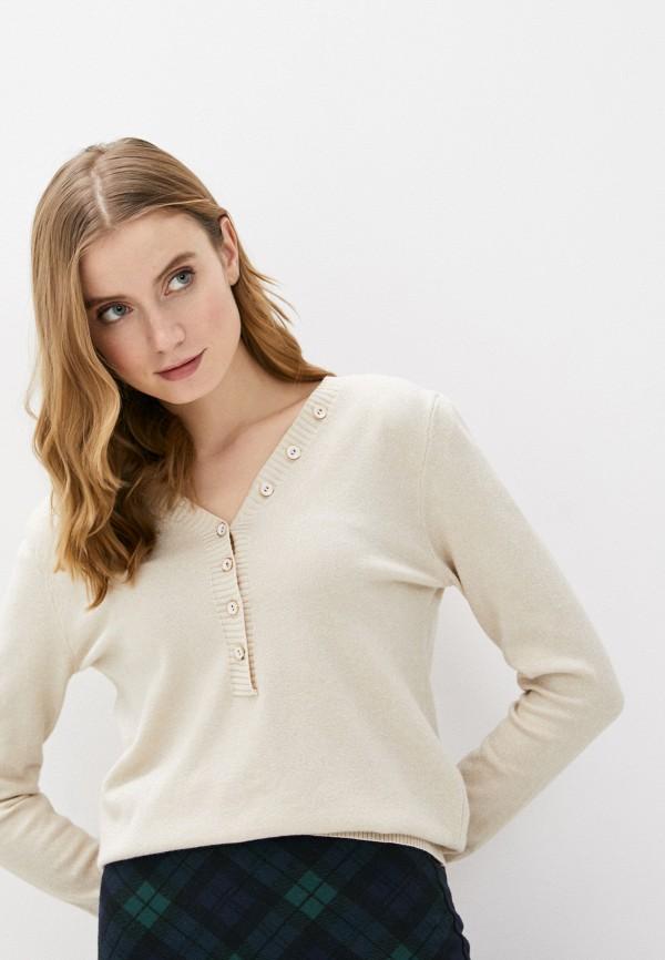 женский пуловер fresh cotton, бежевый