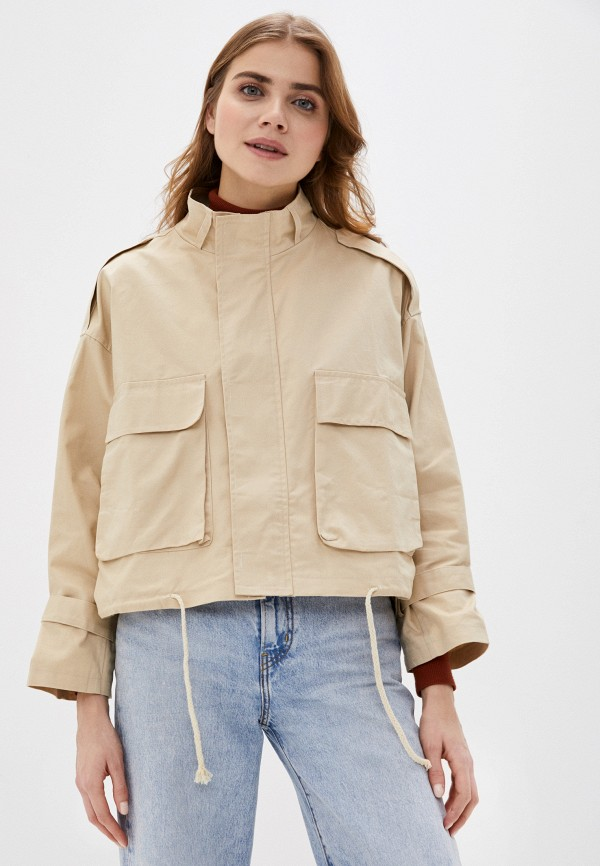 женская куртка fresh cotton, бежевая