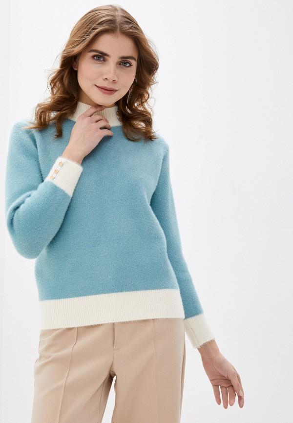 женский свитер fresh cotton, бирюзовый