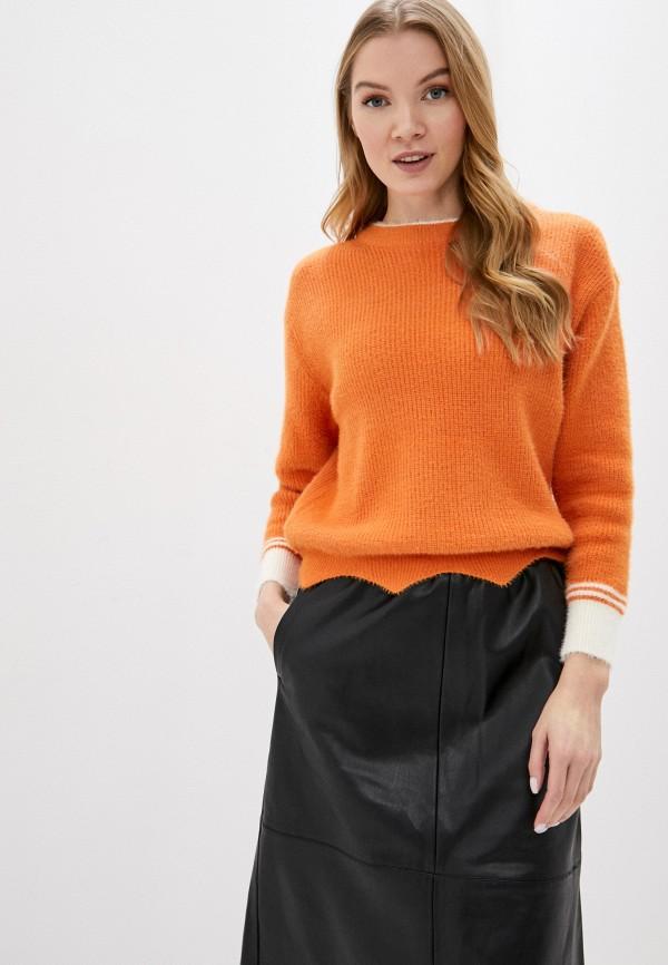 женский джемпер fresh cotton, оранжевый