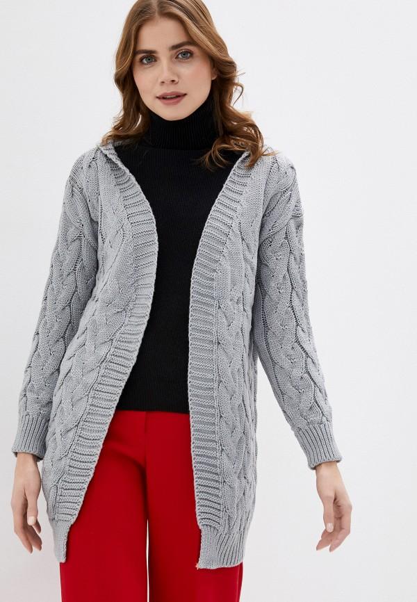женский кардиган fresh cotton, серый