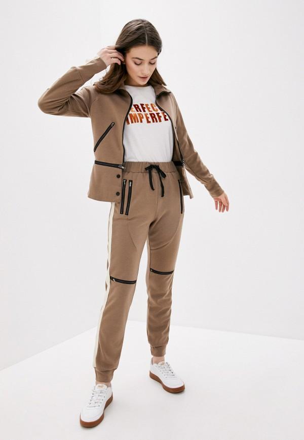 женский спортивный костюм fresh cotton, бежевый