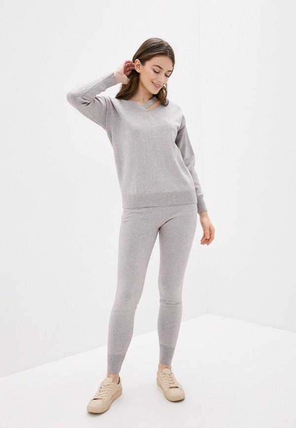 женский костюм fresh cotton, серый