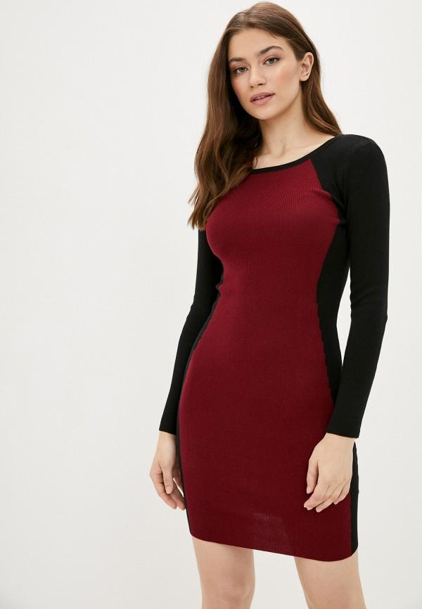 женское платье fresh cotton, бордовое