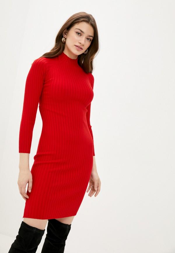 женское платье fresh cotton, красное